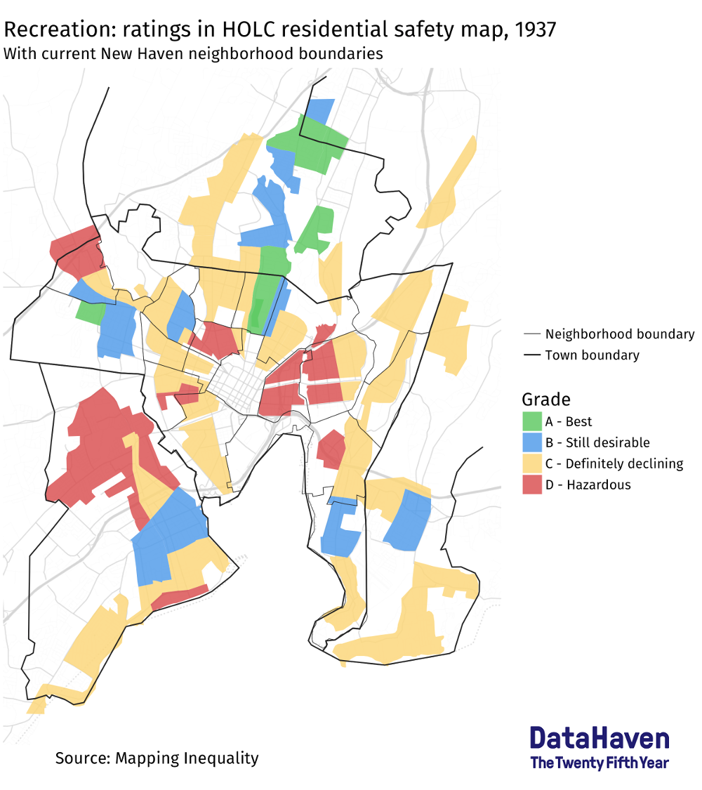 HOLC data mapping by DataHaven