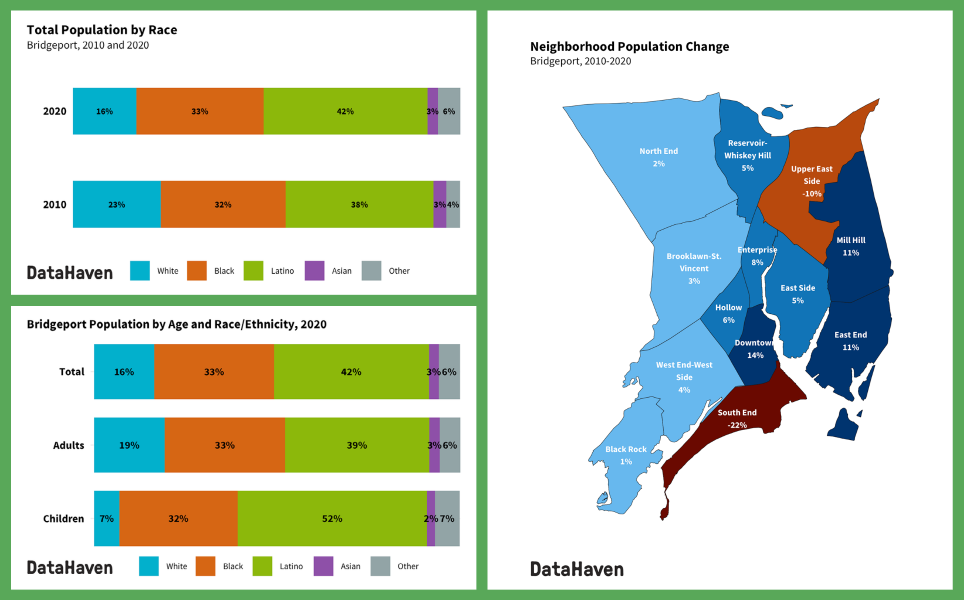 Montage of images for neighborhood reports 2020 census data