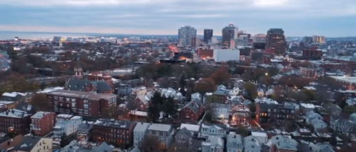 Image of New Haven from DataHaven and Purple States COVID video