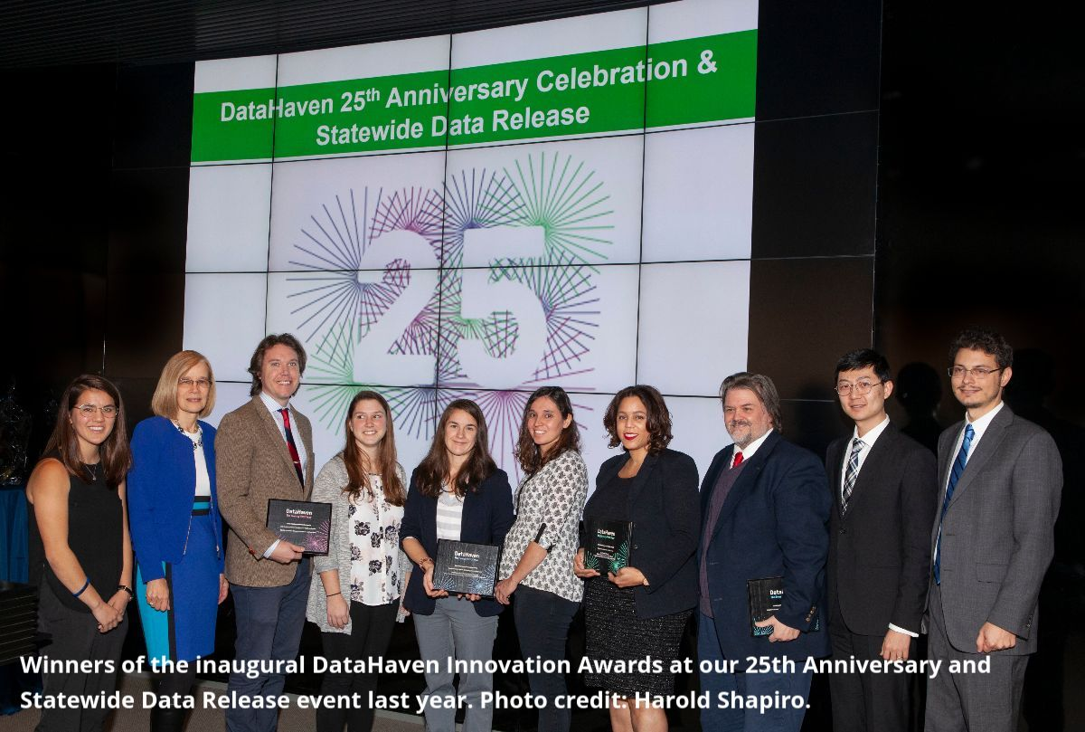 DataHaven CT Data Innovation Awards with Nominees With Caption