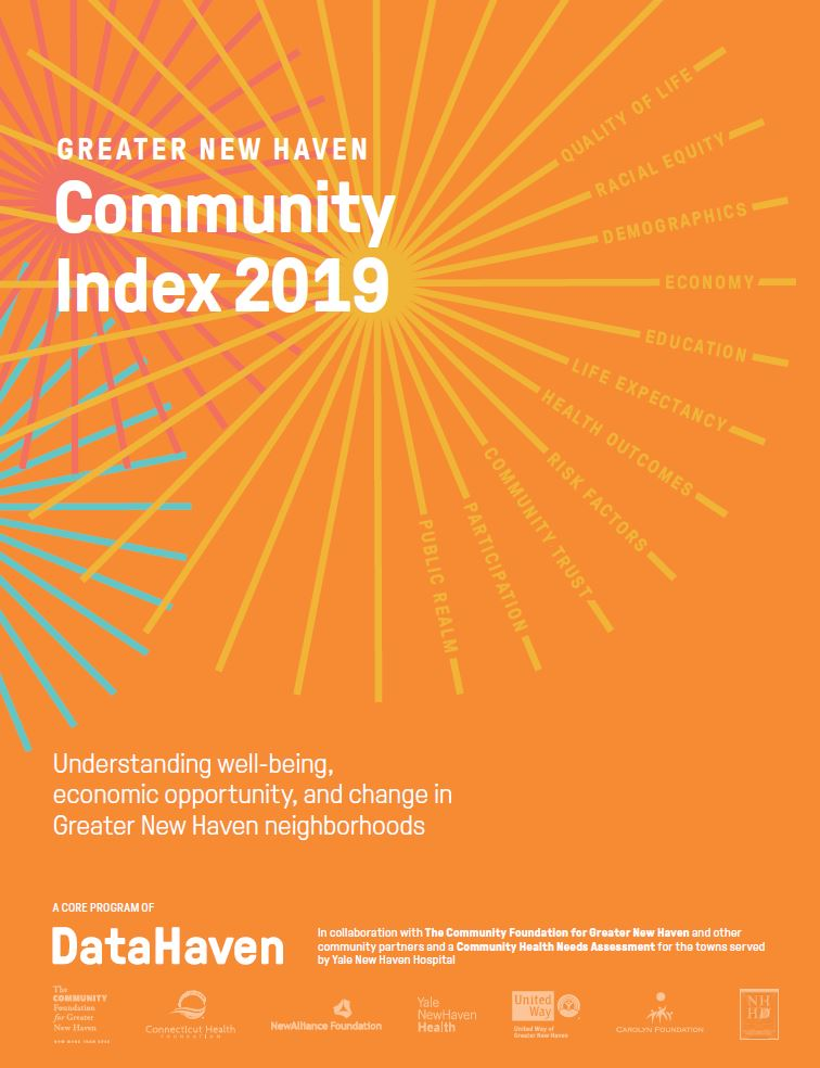 2019 Greater New Haven Index DataHaven Connecticut Data study Cover
