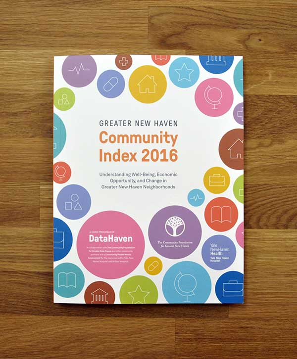 2016 Greater New Haven Community Index cover image DataHaven by Kudos